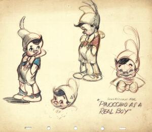 Illustrazione Pinocchio - Disney 1940