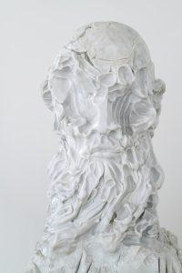 Kevin Francis Gray, detail, Bald Bust, 2020, Photo The Knack Studio, Courtesy the artist and Eduardo Secci Milano